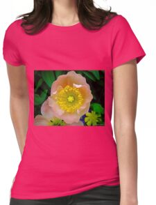 pink & yellow flower Womens Fitted T-Shirt
