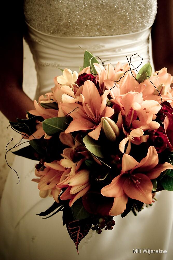 Holding Bouquet by Mili Wijeratne