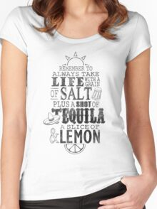 Life is like a bottle of Tequila... Women's Fitted Scoop T-Shirt