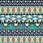Turquoise Southwestern Pattern by LABELSTONE