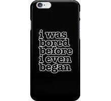 Smiths Lyrics - I was bored - size 2 iPhone Case/Skin