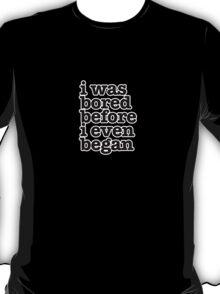 Smiths Lyrics - I was bored - size 2 T-Shirt