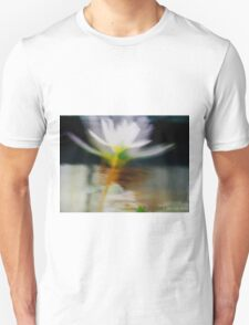 white flower reflection Unisex T-Shirt