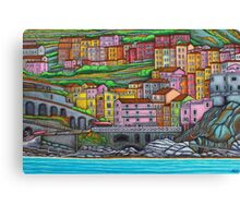 Colours of Manarola Canvas Print