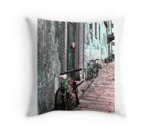 Italy Bicycles  Throw Pillow