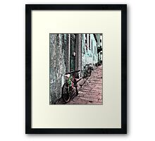 Italy Bicycles  Framed Print