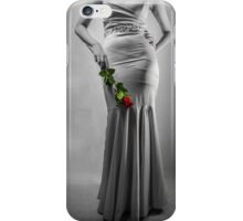 Black, White and Red Rose iPhone Case/Skin