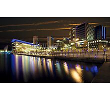 Media City at Night Photographic Print
