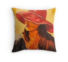 """Red Hat Society"" Throw Pillow"