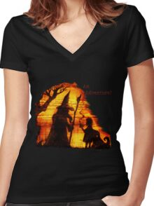 An Adventure?  Women's Fitted V-Neck T-Shirt