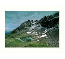 Morning snow at Hochjoch, Austria Art Print