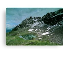 Morning snow at Hochjoch, Austria Canvas Print