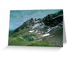 Morning snow at Hochjoch, Austria Greeting Card