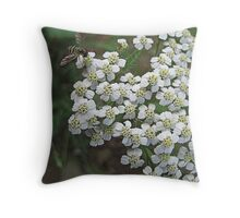 Little White Flowers Throw Pillow