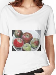 Fruit in bowl mixed media Women's Relaxed Fit T-Shirt