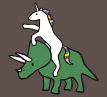 Unicorn Riding Triceratops Kids Clothes