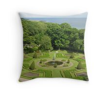 Formal Gardens Dunrobin Castle Throw Pillow