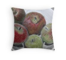 Fruit in bowl mixed media Throw Pillow