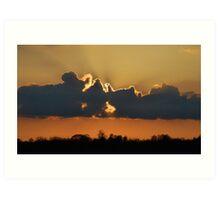 Sunset Burst Art Print