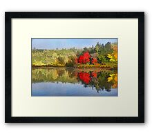 Reflecting on Fall - Autumn Lake Impressions Framed Print