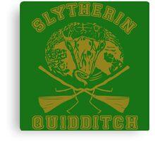 Slytherin quidditch Canvas Print