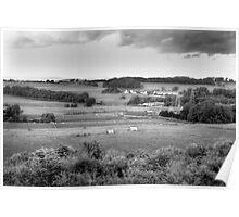 West Lothian Landscape B&W Poster