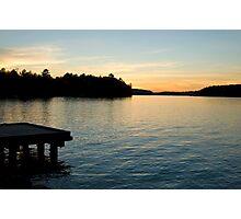 Cottage Sunset Photographic Print