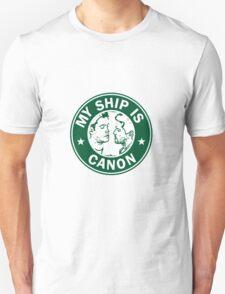 Starbucks/My Ship Is Canon- Destiel T-Shirt