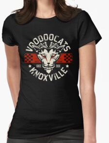 Rockabilly Greaser Voodoocats Racing Team Womens Fitted T-Shirt