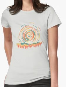 The Geometry of Sunrise Womens Fitted T-Shirt