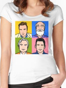 Four Horsemen 2013 - Hitchens, Dennett, Dawkins & Harris Women's Fitted Scoop T-Shirt