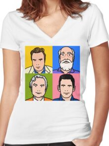 Four Horsemen 2013 - Hitchens, Dennett, Dawkins & Harris Women's Fitted V-Neck T-Shirt