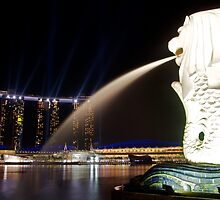 The Singapore Merlion at Marina Bay by tpixx