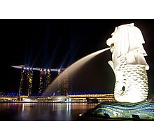 The Singapore Merlion at Marina Bay Photographic Print
