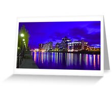 Harbour City at Night Greeting Card