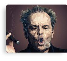 Jack Nicholson - Low poly Canvas Print