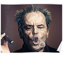 Jack Nicholson - Low poly Poster