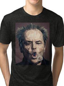 Jack Nicholson - Low poly Tri-blend T-Shirt
