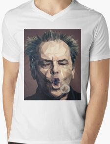 Jack Nicholson - Low poly Mens V-Neck T-Shirt