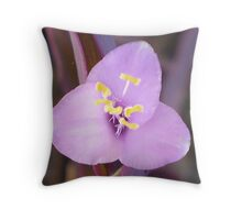 Purple Bloom on Suculant Throw Pillow
