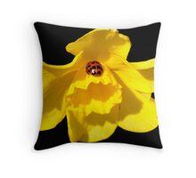 Ladybug Daff Throw Pillow