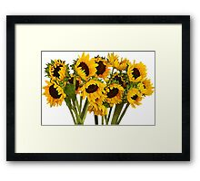 Crowd of Sunflowers Framed Print