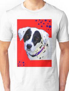 black & white dog Unisex T-Shirt