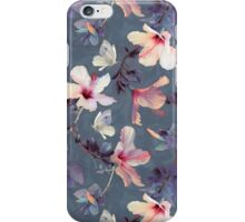 Butterflies and Hibiscus Flowers - a painted pattern iPhone Case/Skin