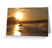 Byron Bay Sunset Surf Australia Greeting Card