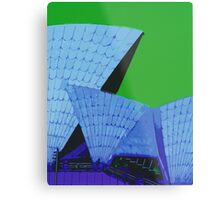 Abstract Sydney Opera House Metal Print