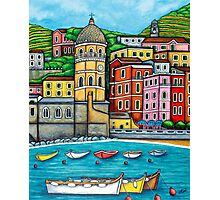 Colours of Vernazza, Cinque Terre Photographic Print