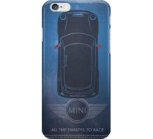"MINI Cooper Dr Who ""All the twisties to race"" iPhone Case/Skin"