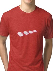 A row of tents Tri-blend T-Shirt