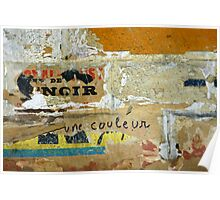 Métro - Le noir est une couleur Poster
